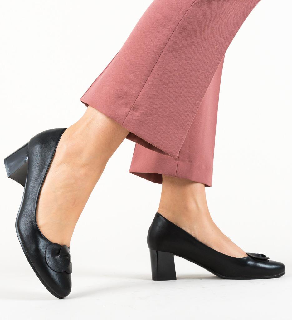 Pantofi Clay Negri