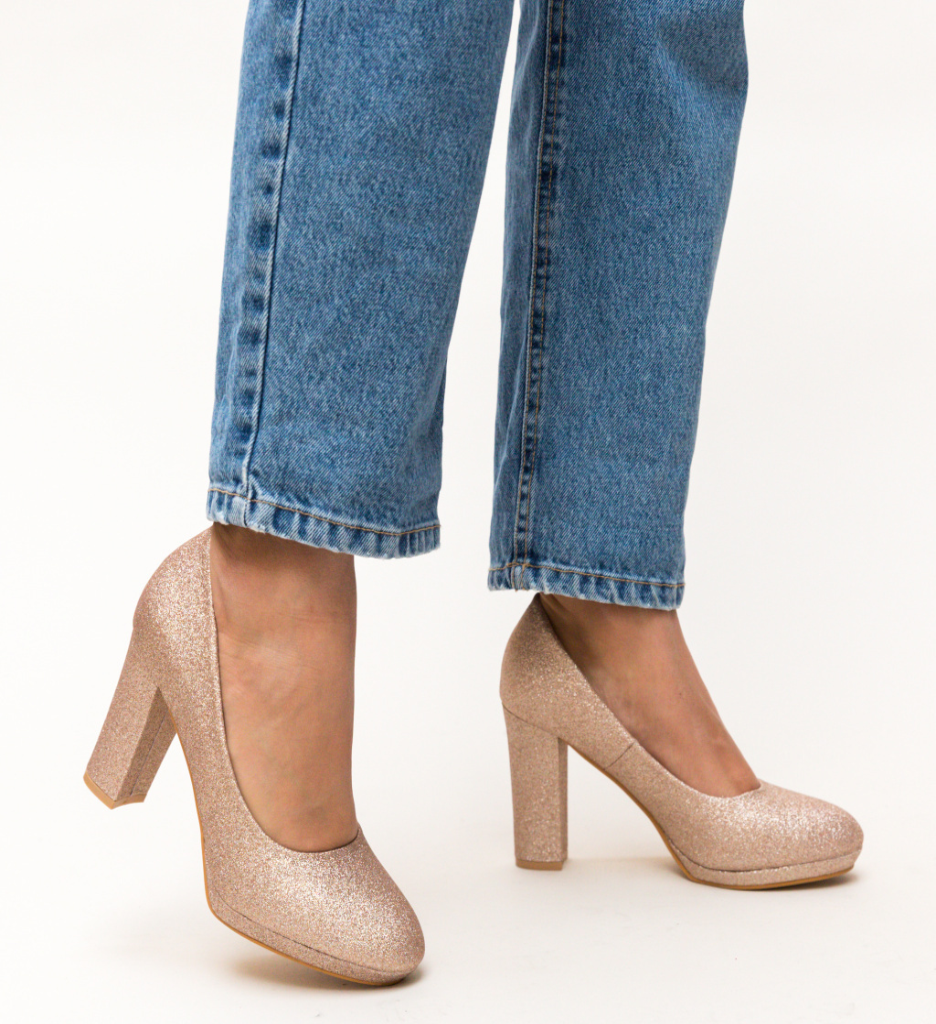 Pantofi Dezgo Aurii