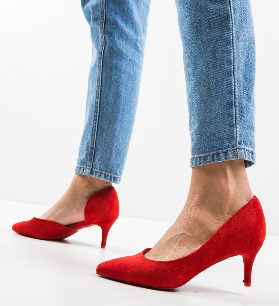 Pantofi Gely Rosii