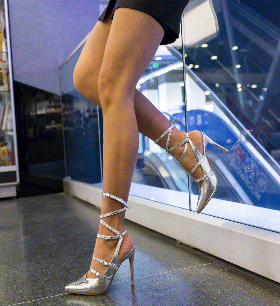 Pantofi Janem Argintii
