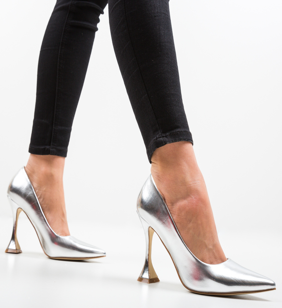 Pantofi Lena Argintii