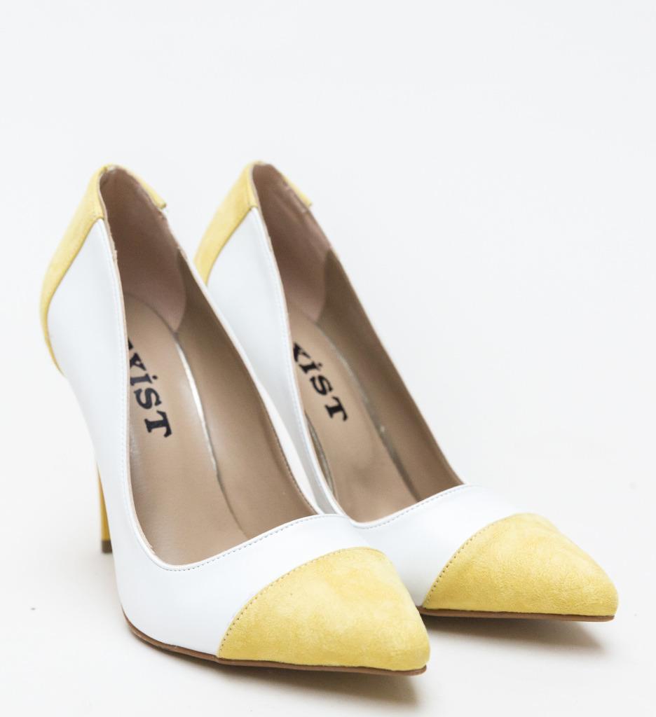 Pantofi Masume Albi