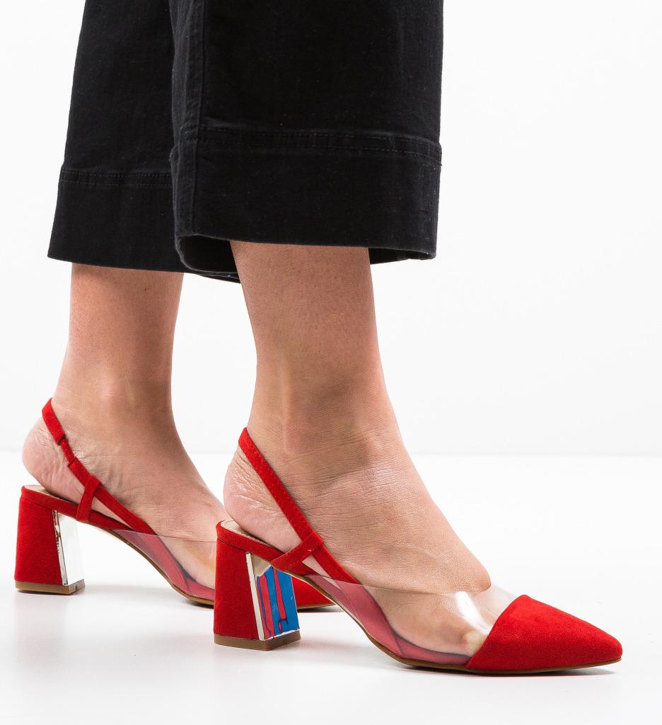 Pantofi Milla Rosii