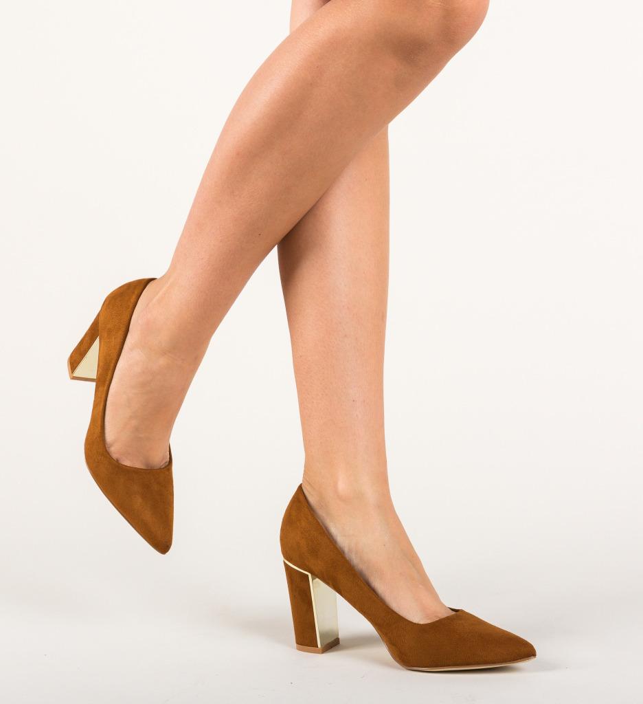 Pantofi Peonix Camel