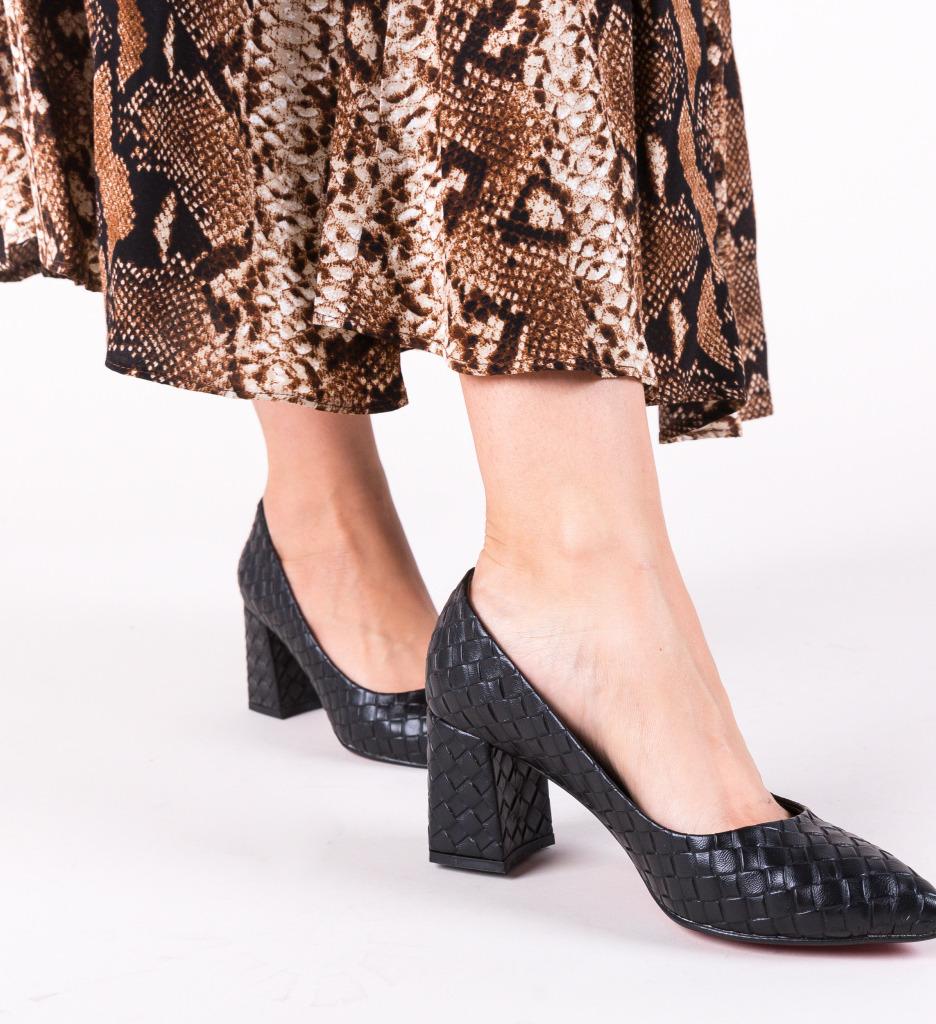 Pantofi Spic Negri 2 imagine