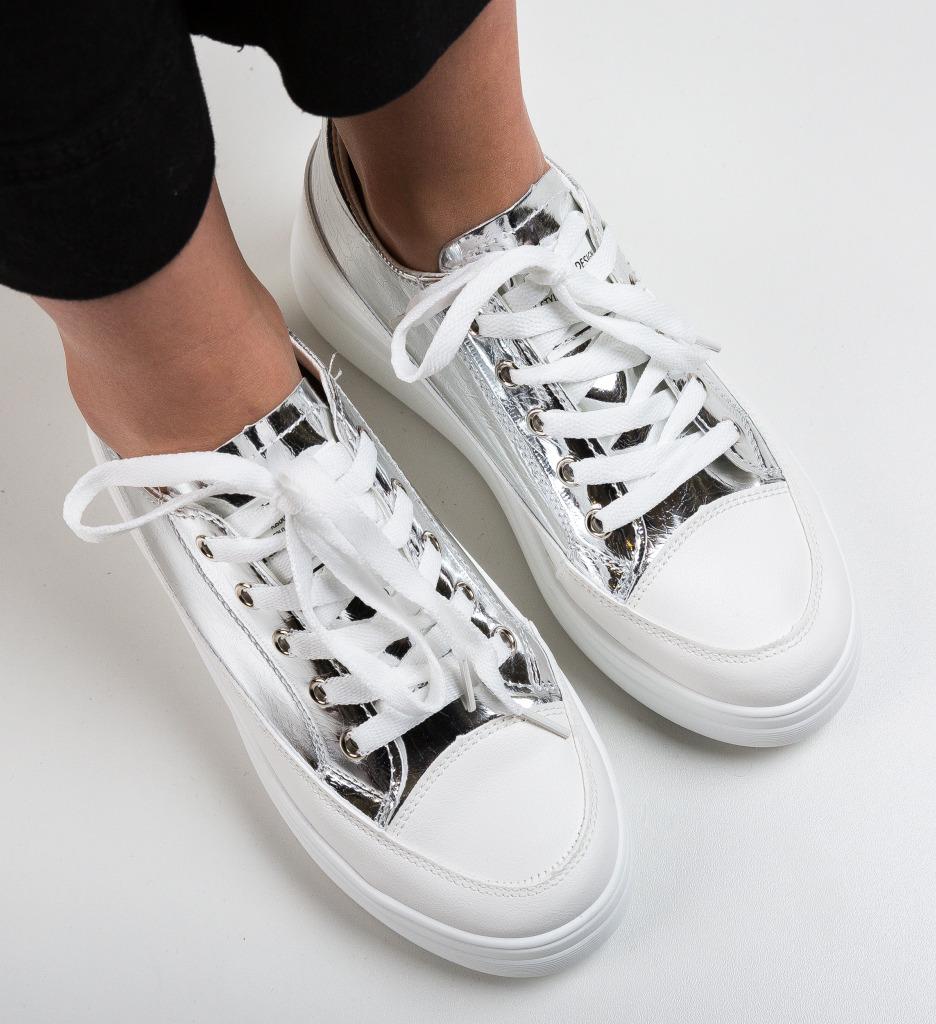 Pantofi Sport Bayno Argintii