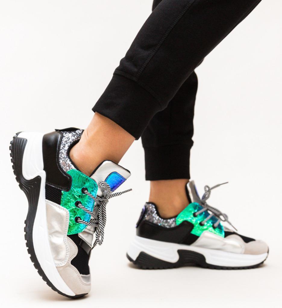 Pantofi Sport Eren Argintii imagine