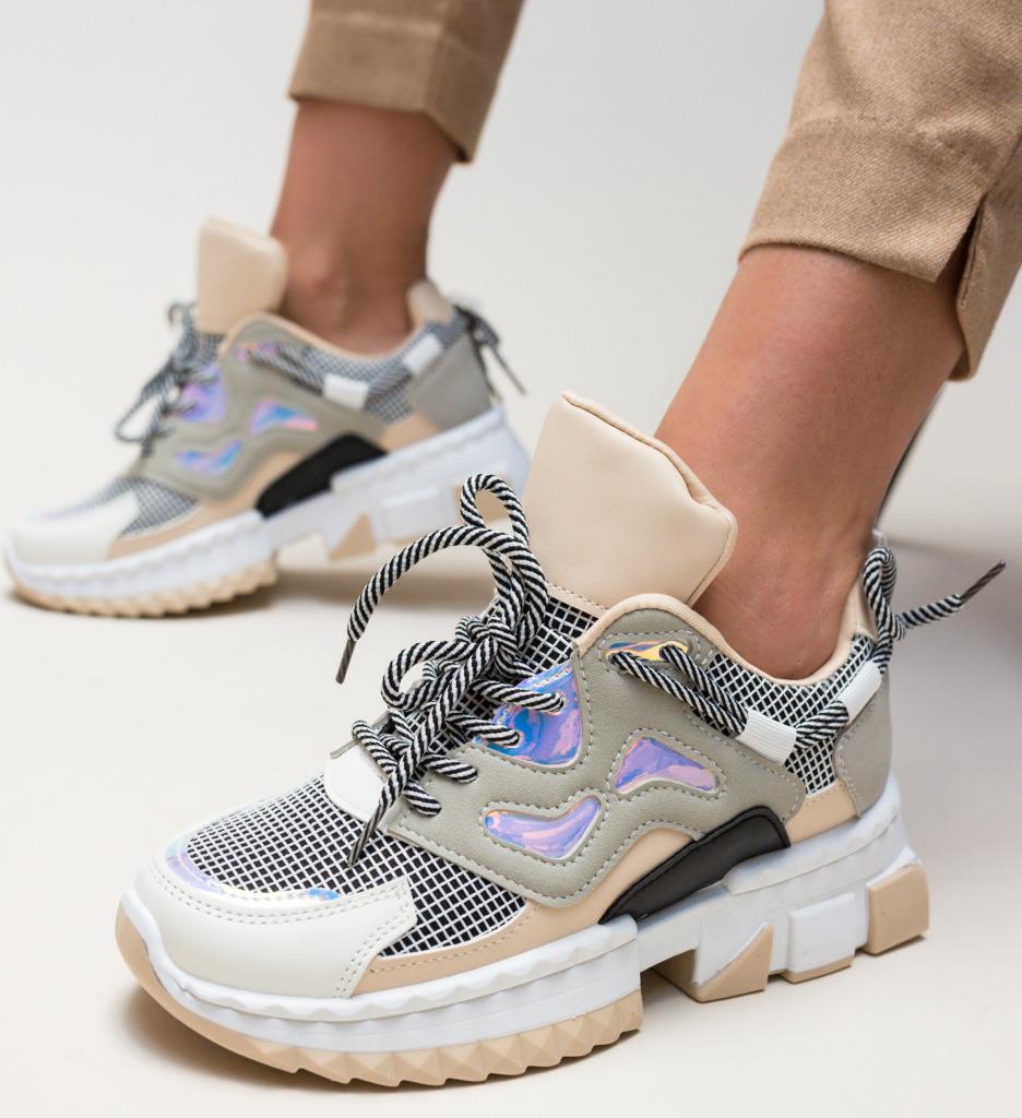 Pantofi Sport Helena Bej imagine 2021