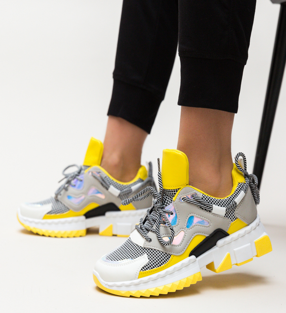 Pantofi Sport Helena Galbeni