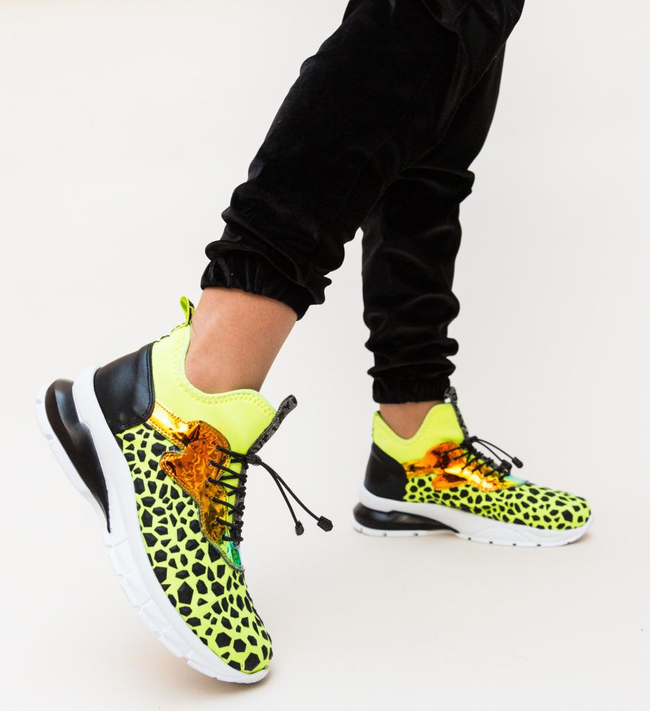 Pantofi Sport Leilani Galbeni imagine