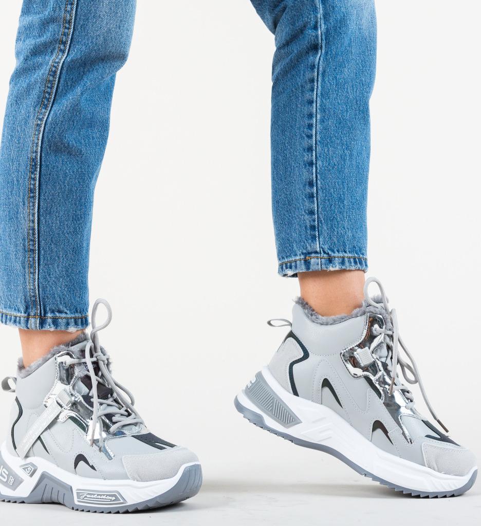 Pantofi Sport Macy Gri