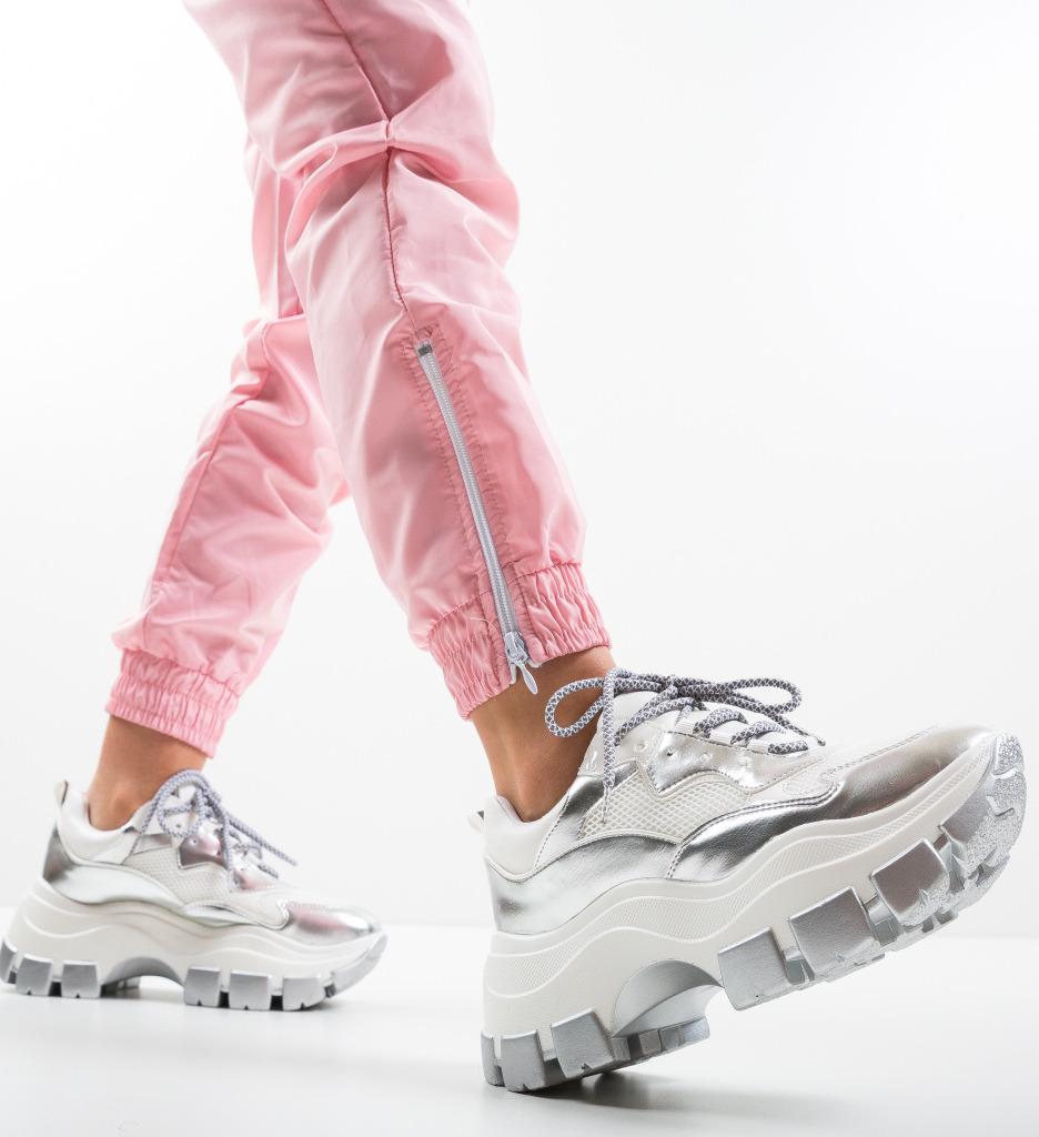 Pantofi Sport Stev Argintii