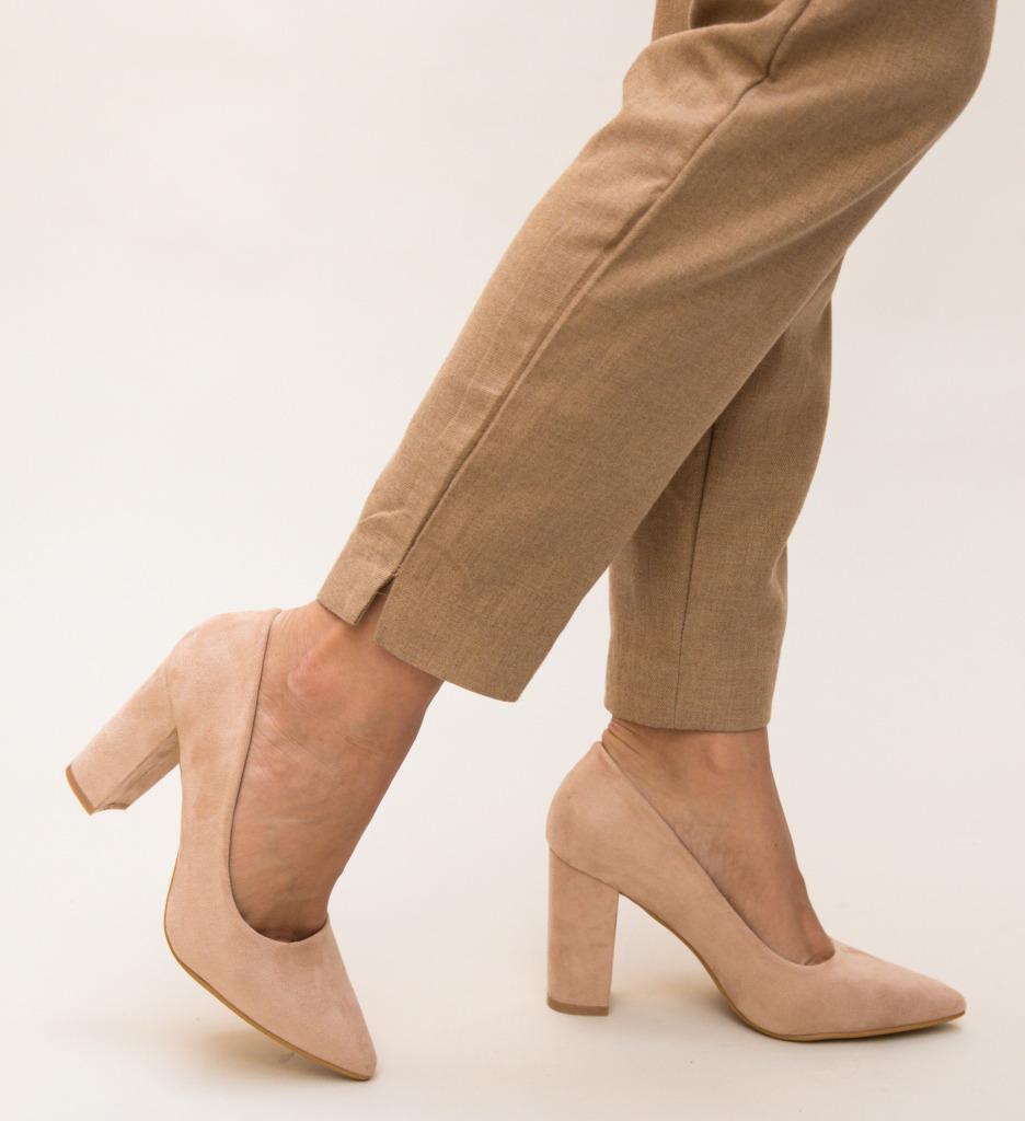 Pantofi Tabita Nude imagine