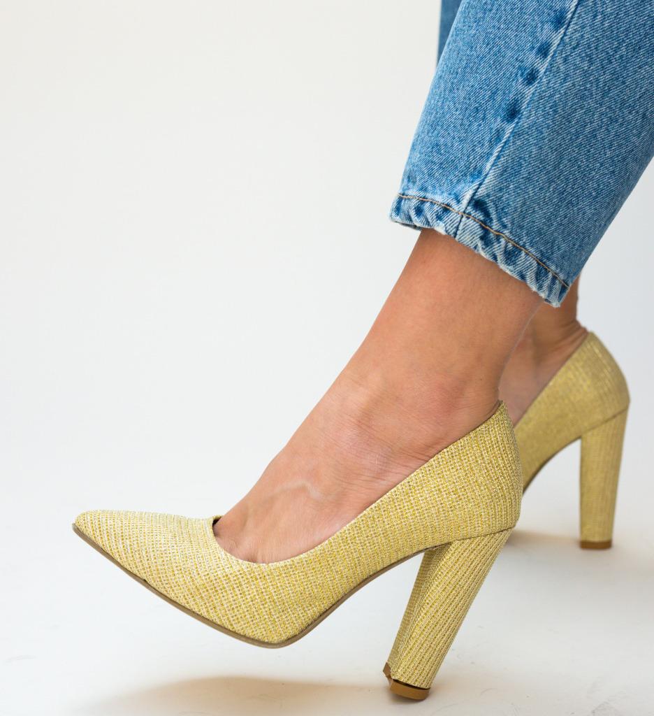 Pantofi Tasi Aurii