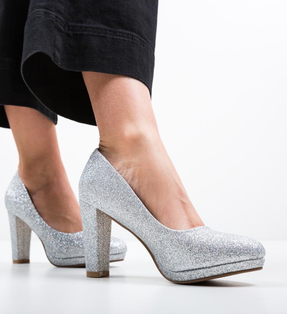 Pantofi Tregaza Argintii