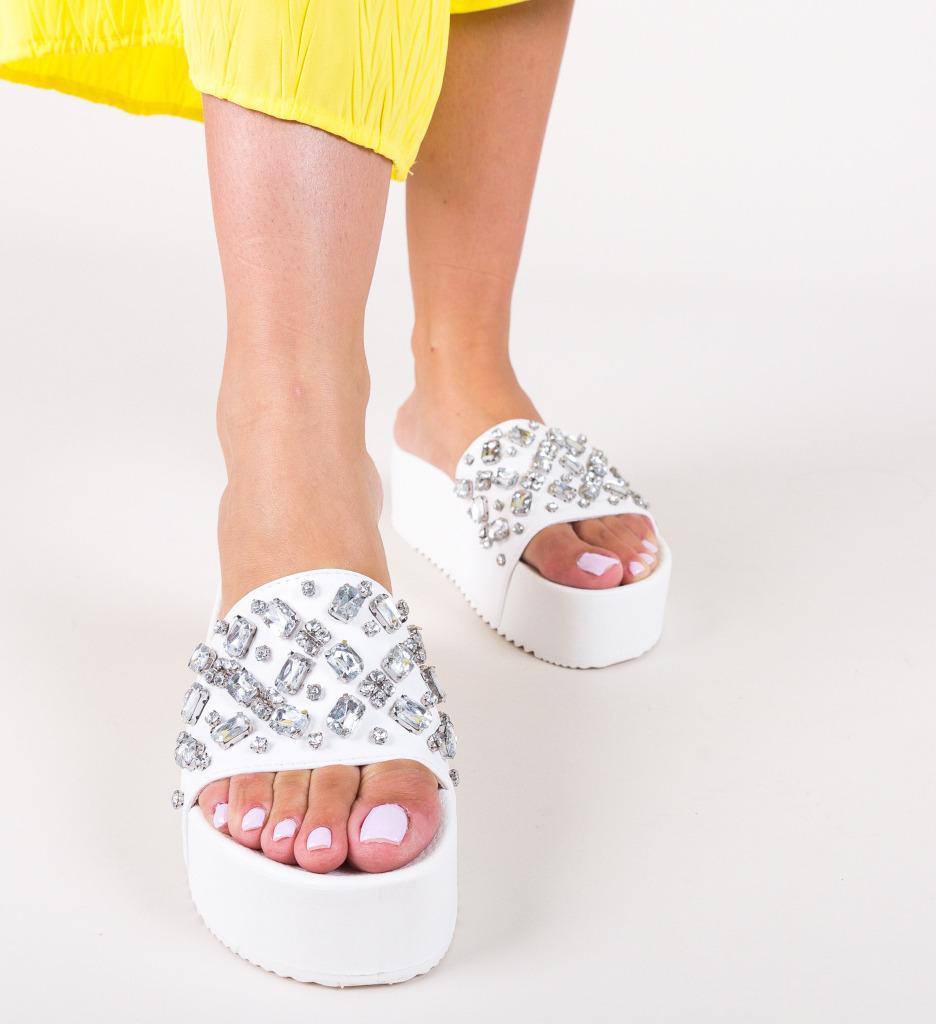 Papuci Bea Albi