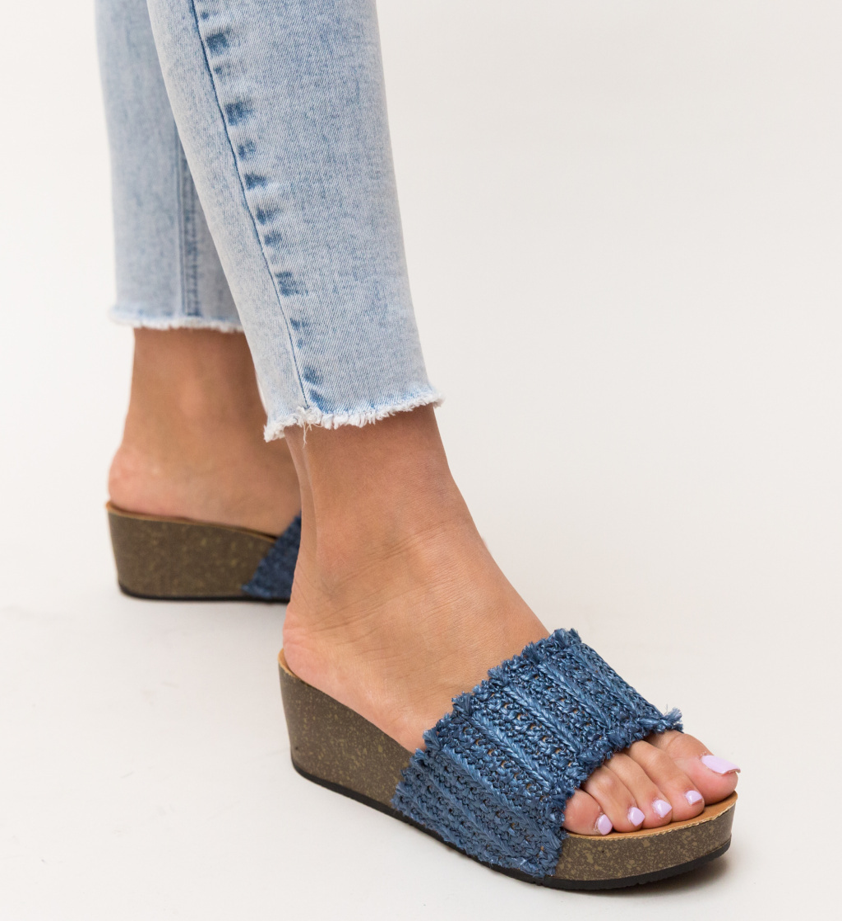 Papuci Otineli Bleumarin