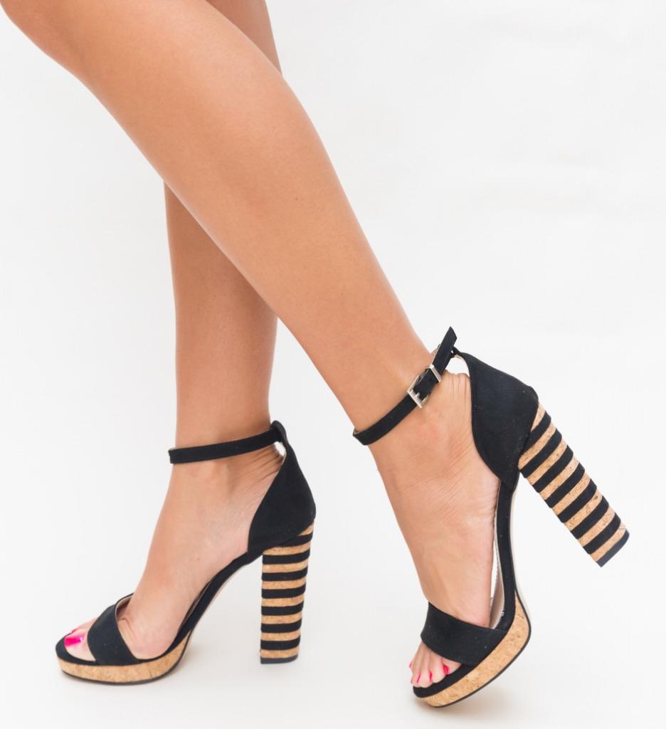Sandale Milania Negre