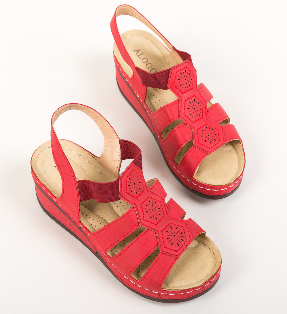 Sandale Robles Rosii imagine