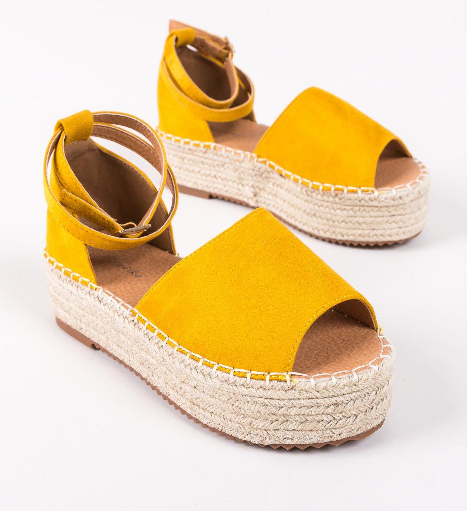 Sandale Xiong Galbene