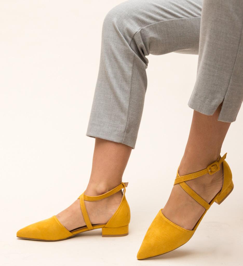 Pantofi Amisha Galbeni imagine