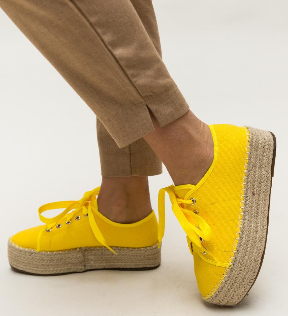 Pantofi Casual Aldred Galbeni