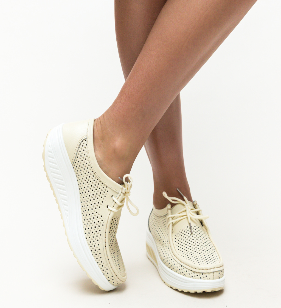 Pantofi Casual Blanken Bej