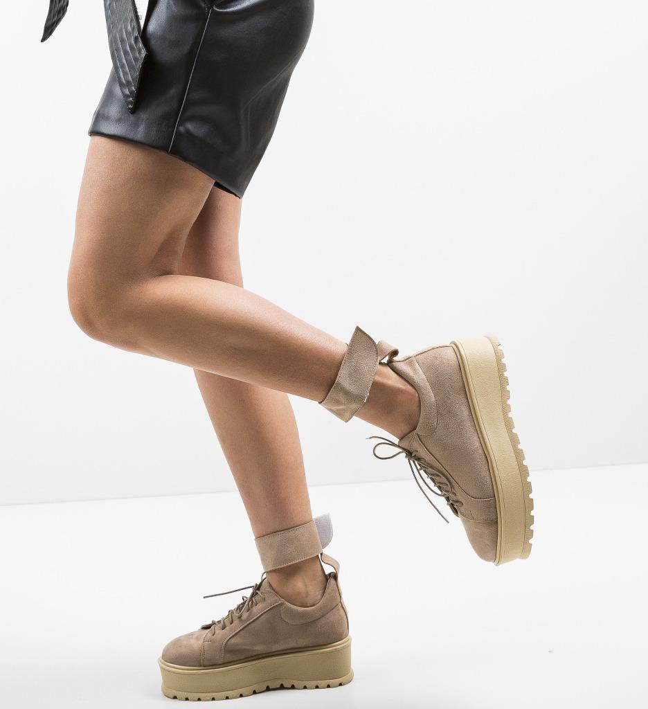 Pantofi Casual Brosky Bej