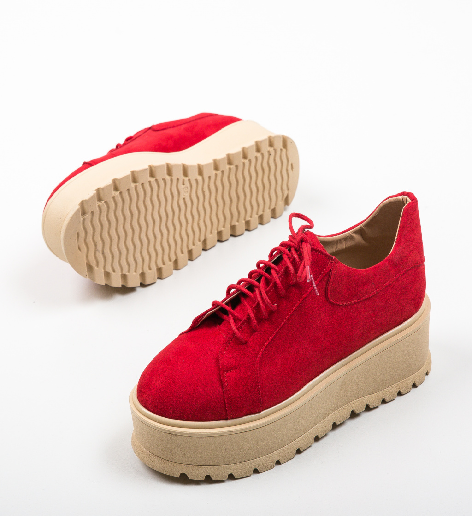 Pantofi Casual Dutano Rosii