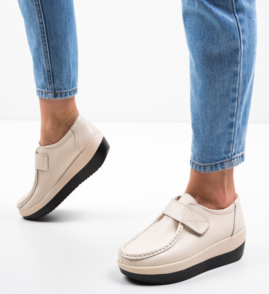 Pantofi Casual Groma Bej