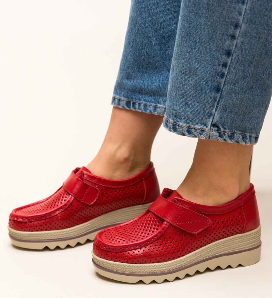 Pantofi Casual Histria Rosii