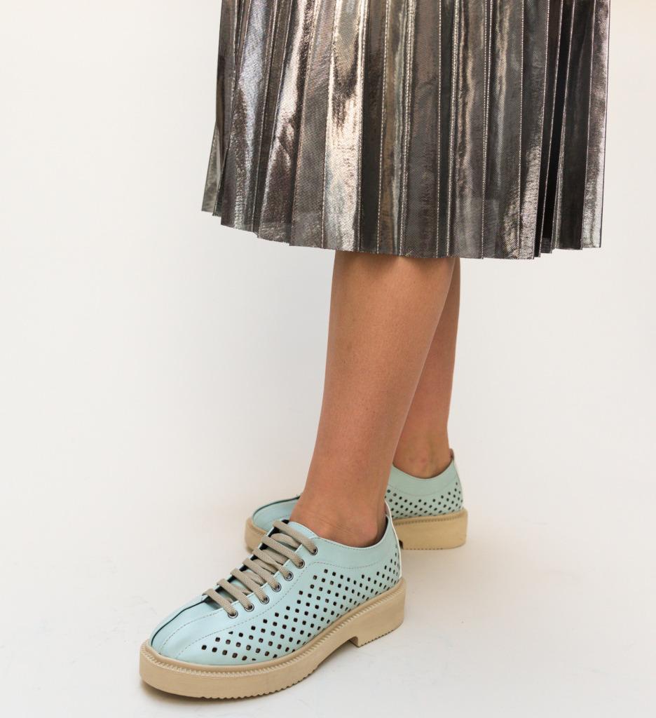 Pantofi Casual Jalba Turcoaz imagine