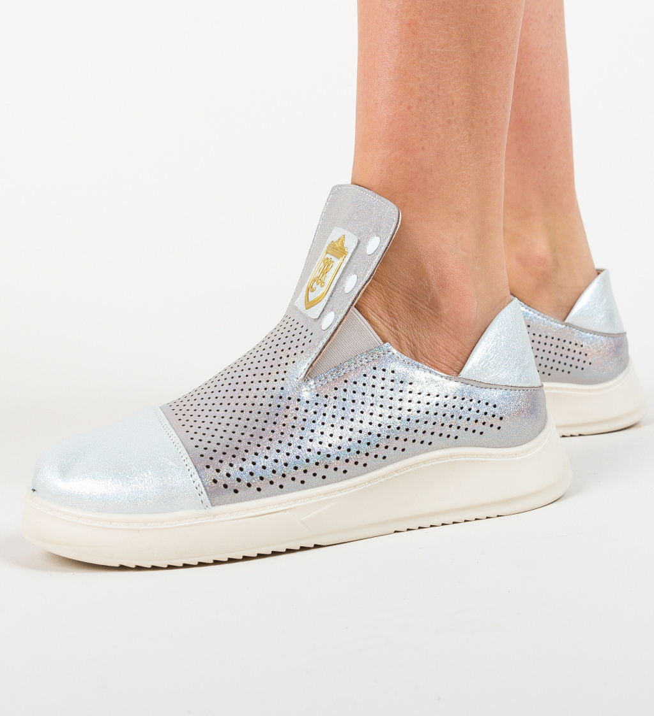 Pantofi Casual Jigone Argintii