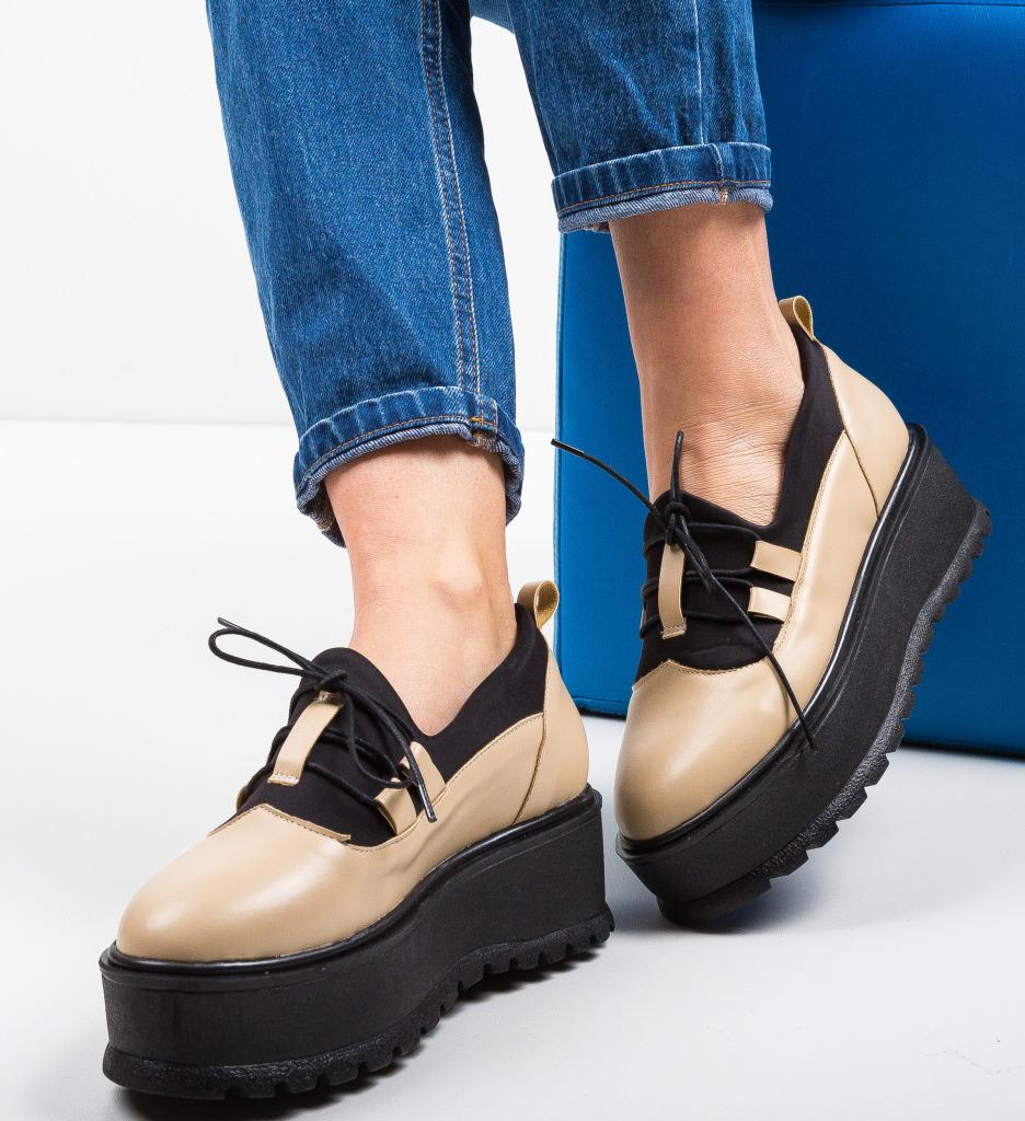Pantofi Casual Kopol Bej 2