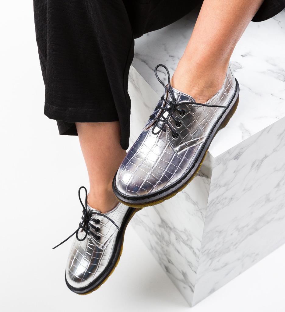 Pantofi Casual Laury Argintii