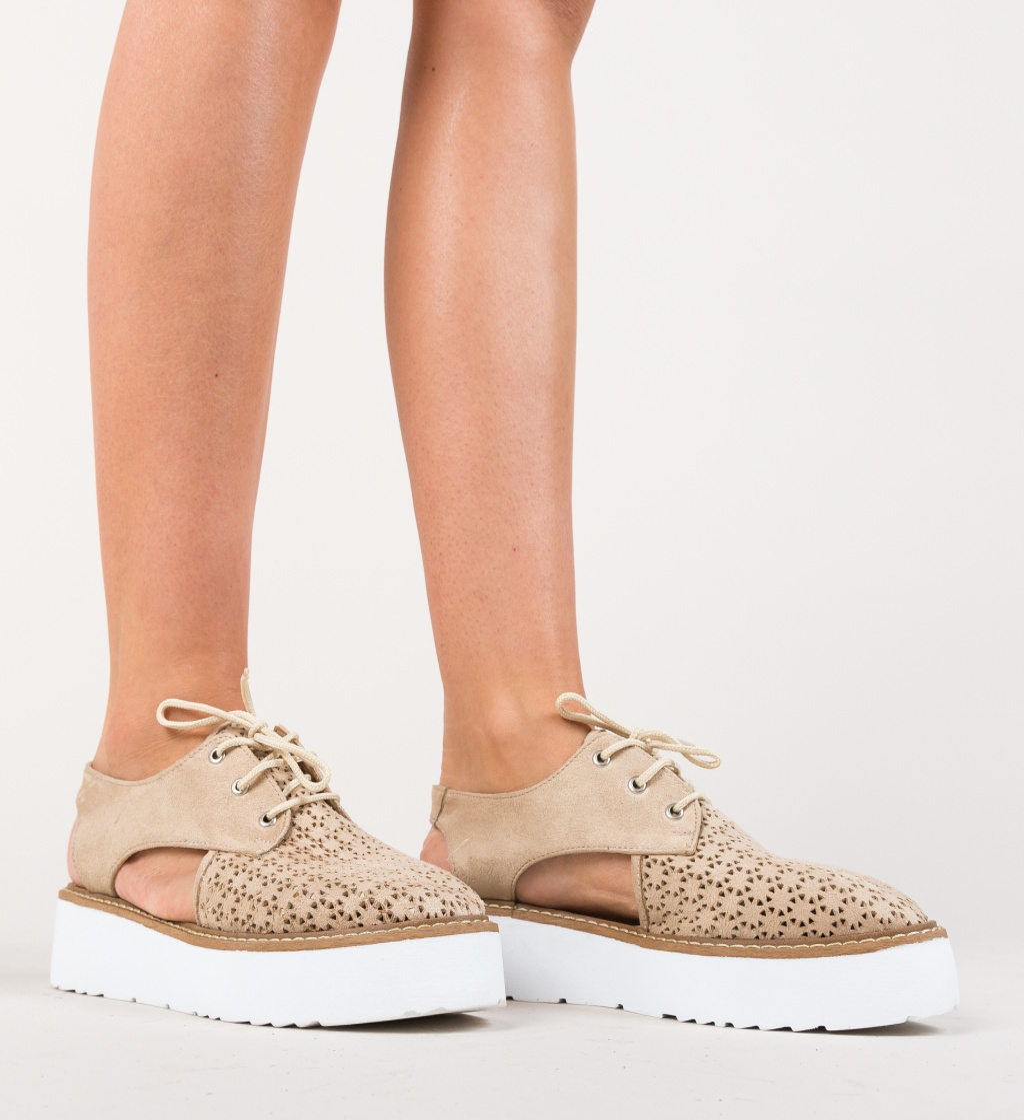 Pantofi Casual Lizia Bej