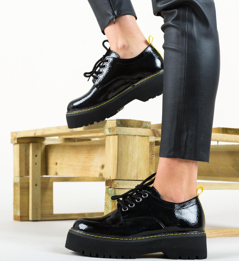Pantofi Casual London Negri