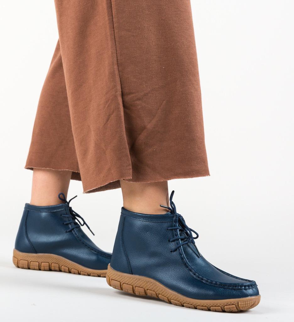 Pantofi Casual Nakita Bleumarin imagine 2021