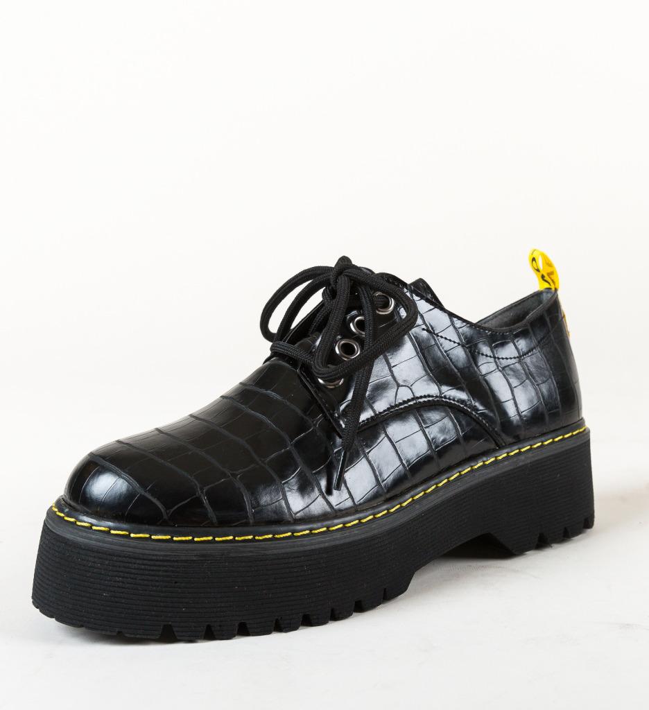 Pantofi Casual Night Negri 2 imagine