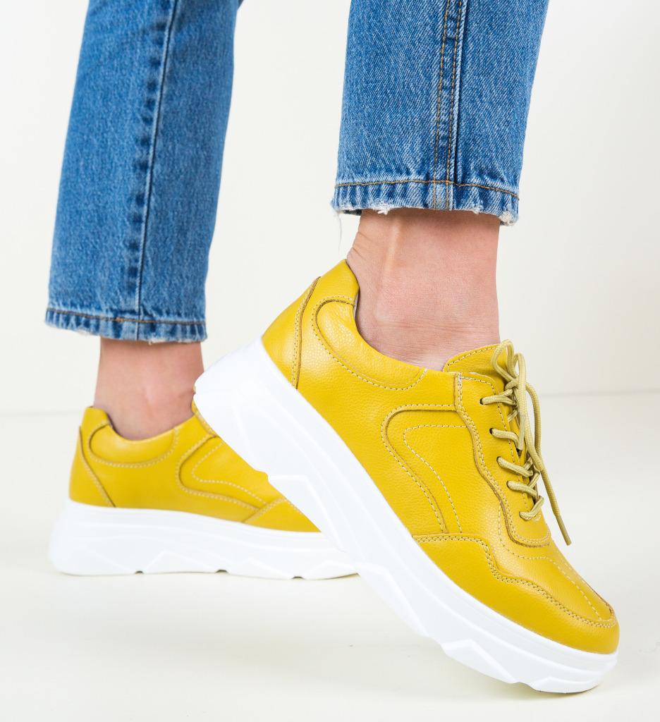 Pantofi Casual Nur Galbeni