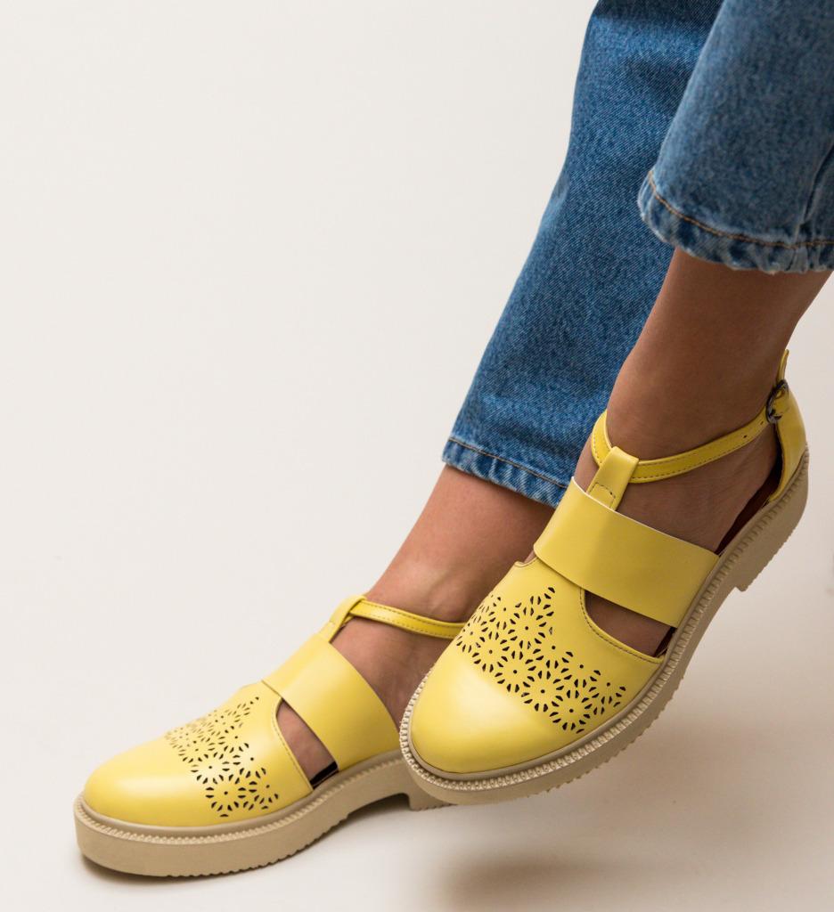 Pantofi Casual Potic Galbeni imagine