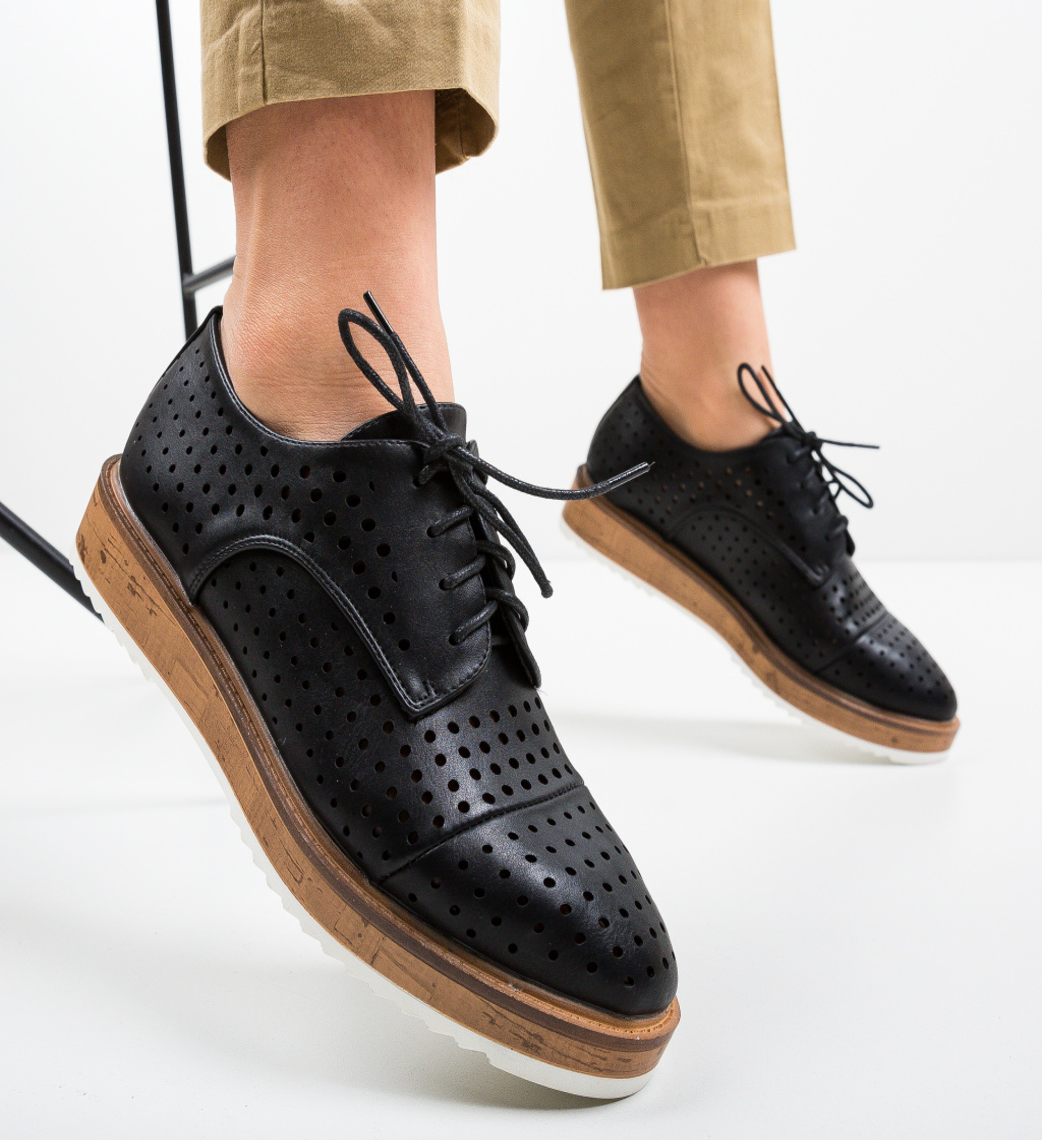 Pantofi Casual Ropag Negri