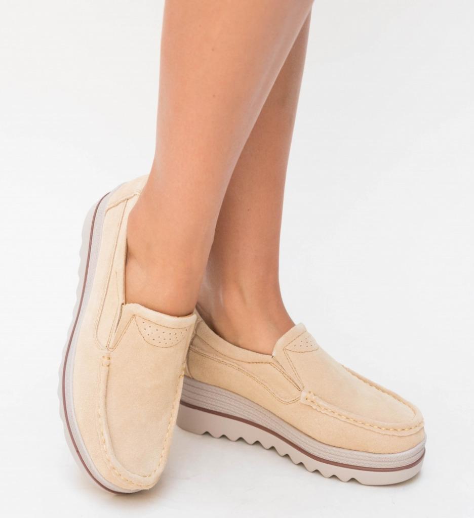 Pantofi Casual Smirno Bej