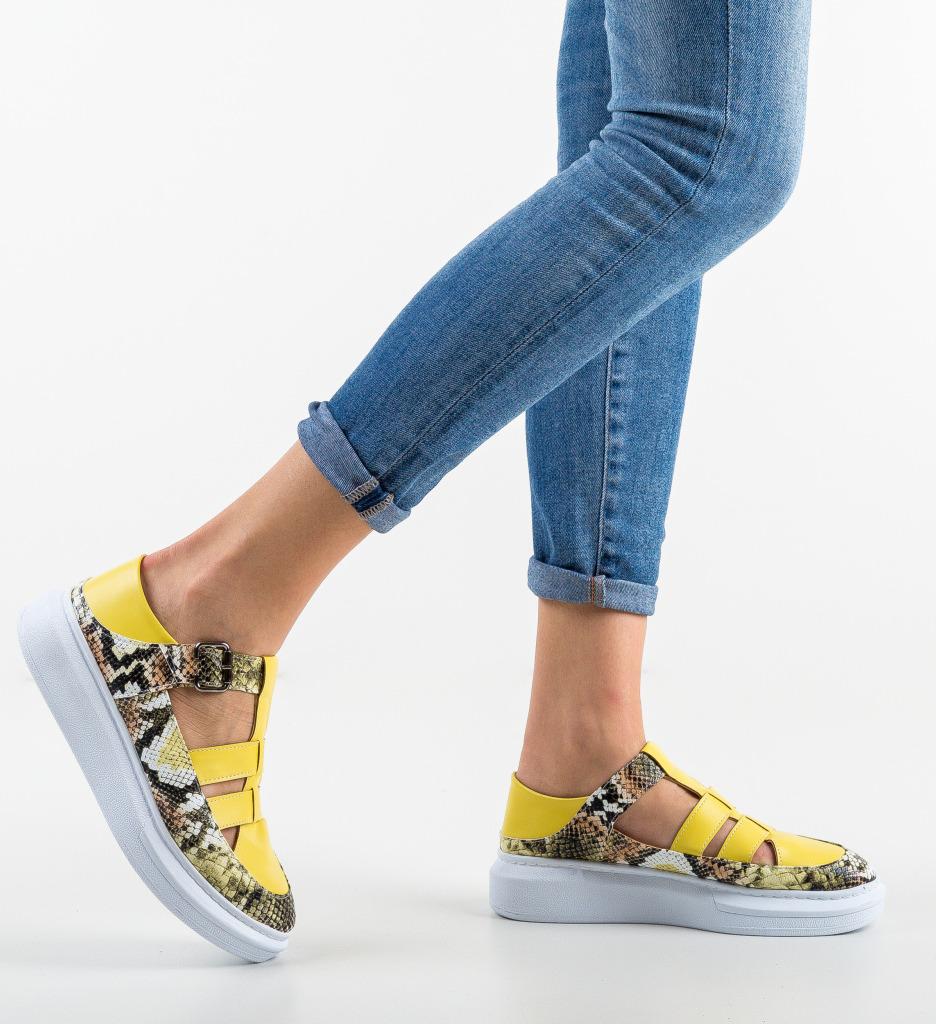 Pantofi Casual Sonicx Galbeni