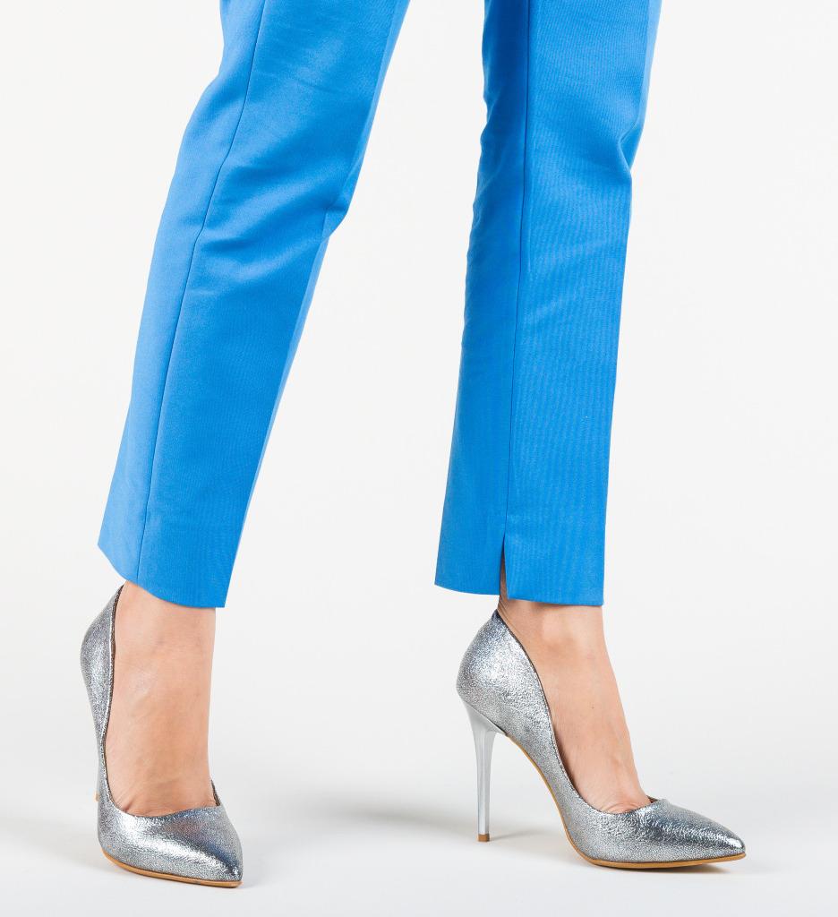 Pantofi Dadoka Argintii
