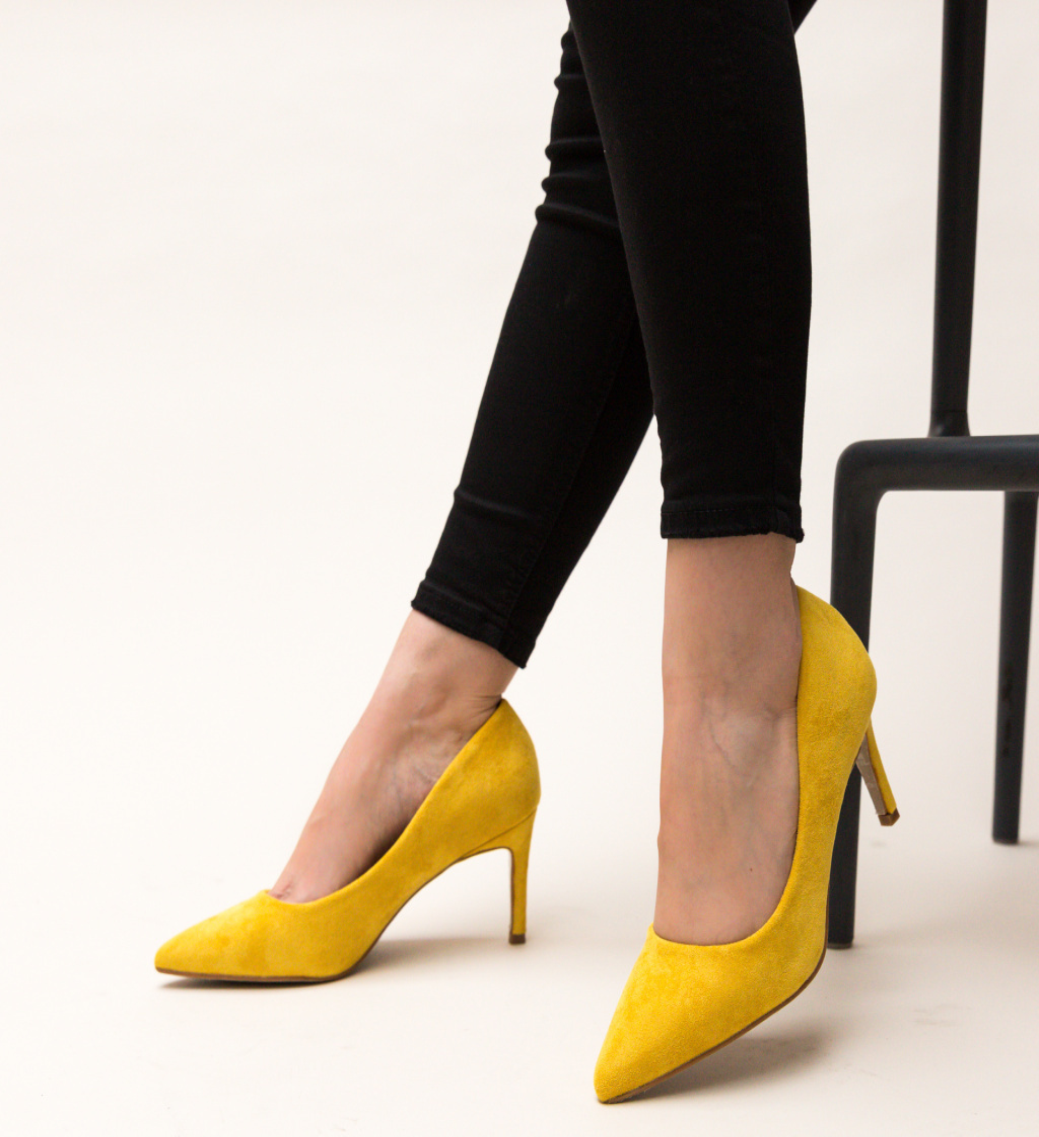 Pantofi Deaco Galbeni