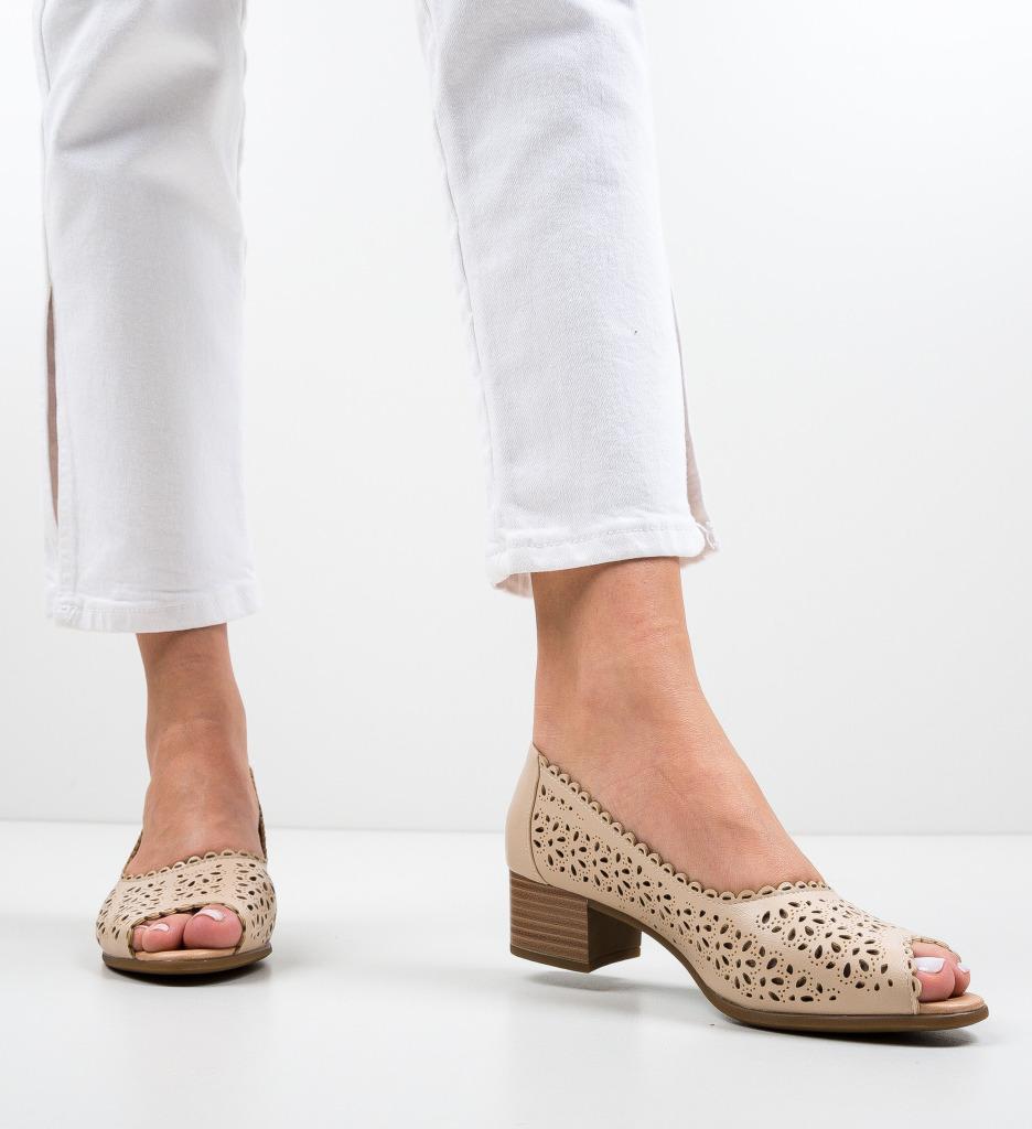 Pantofi Deady Bej