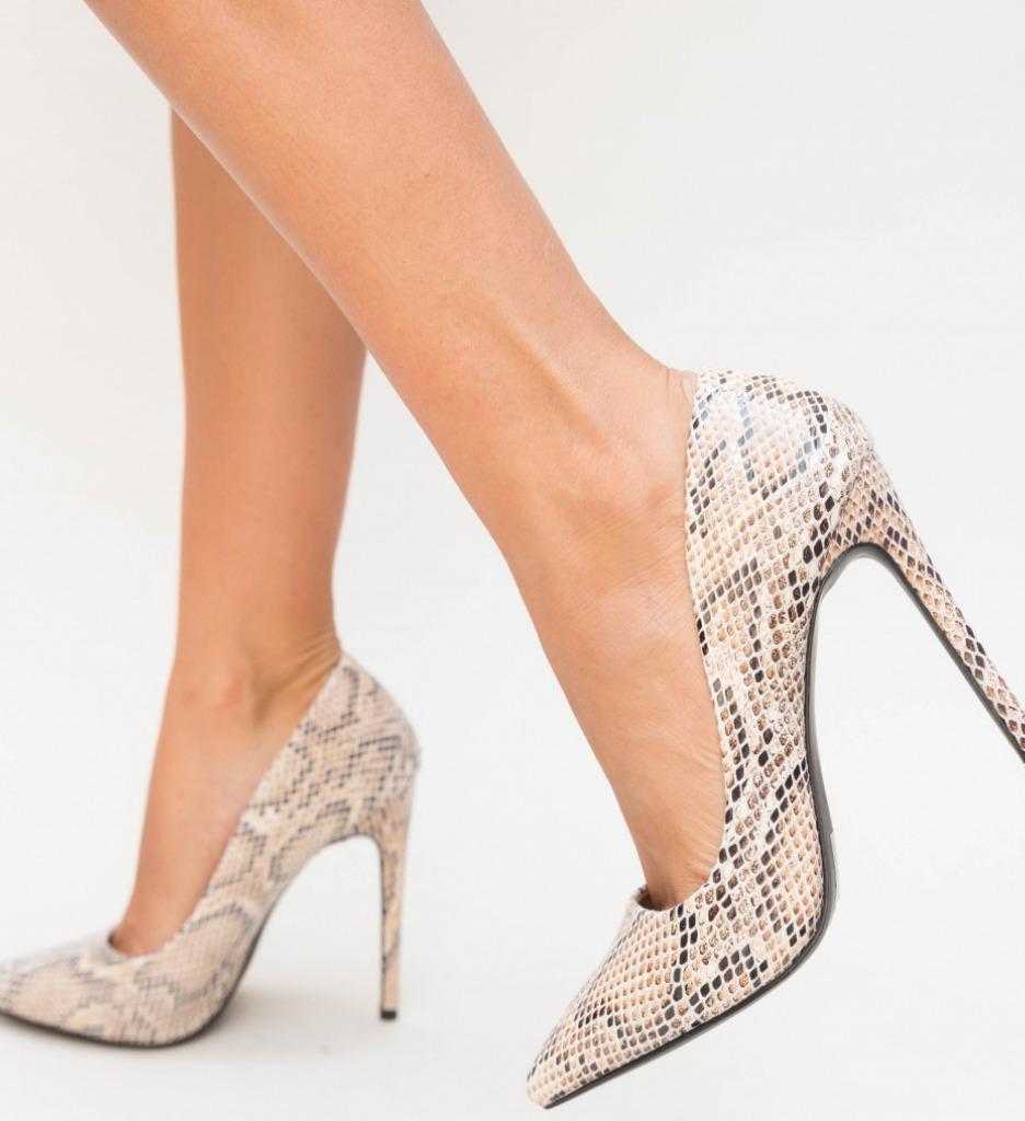Pantofi Enio Bej