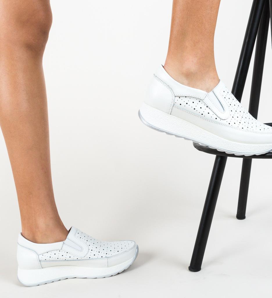 Pantofi Ferne Albi imagine