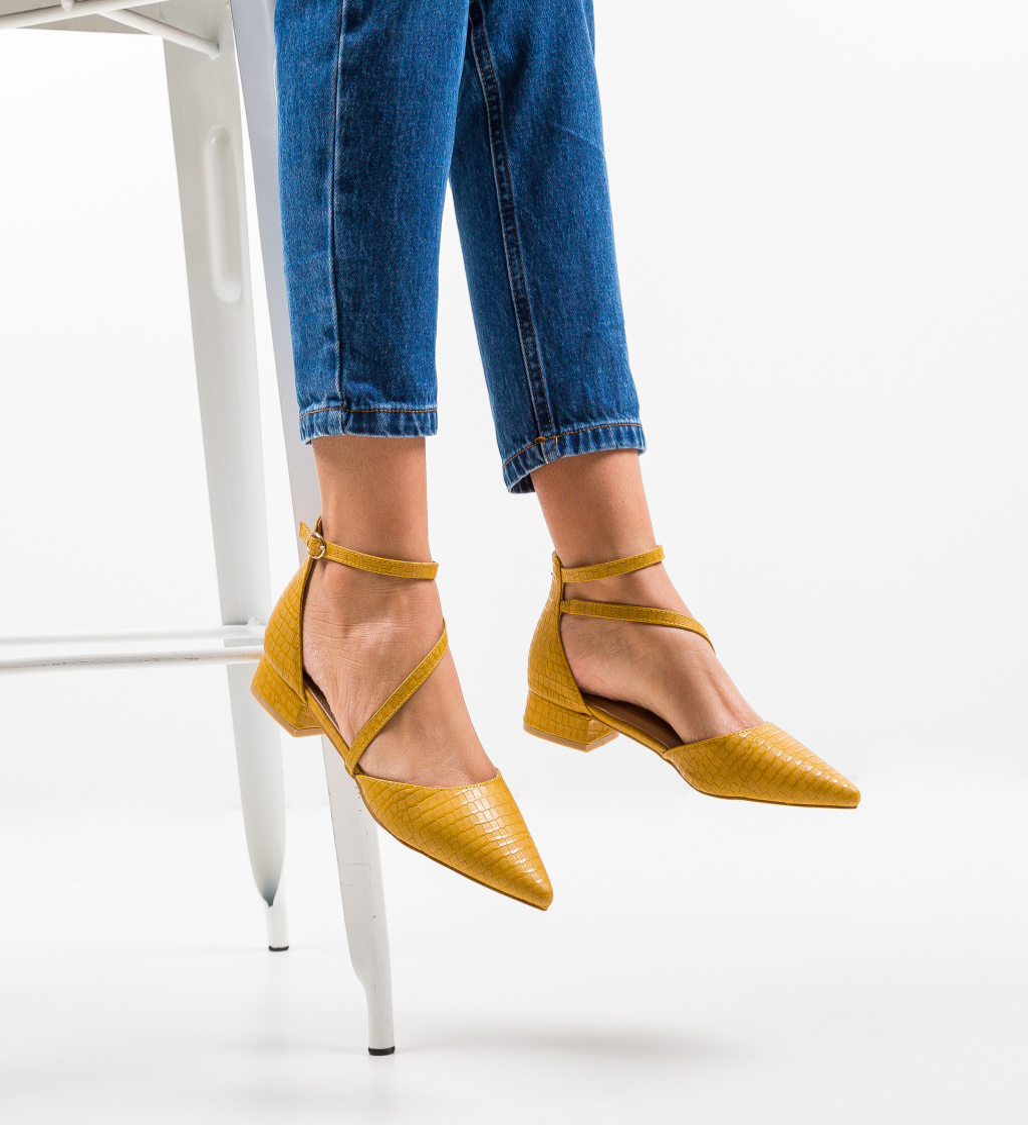 Pantofi Haney Galbeni